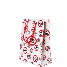 Darilna vrečka prometni znak 18, 20x23x11cm