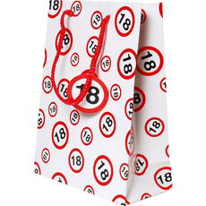 Darilna vrečka prometni znak 18, 31x45x11cm