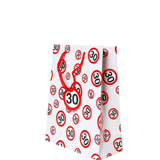 Darilna vrečka prometni znak 30, 20x23x11cm