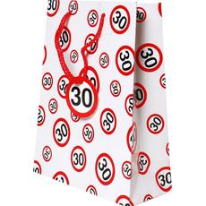 Darilna vrečka prometni znak 30, 31x45x11cm