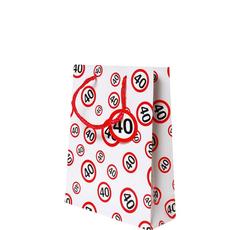 Darilna vrečka prometni znak 40, 20x23x11cm