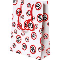 Darilna vrečka prometni znak 60, 31x45x11cm