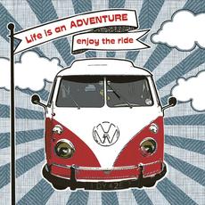 "Papirnate serviete,""Enjoy Hippie Ride"", Bulli, 33x33cm, 20kos."
