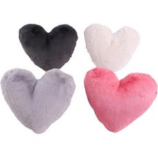 Vzglavnik dekorativni srce pliš 30x40cm več barv 100% polyester