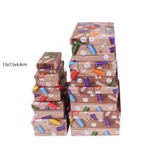 Darilna škatla kartonska gumbi in sukanci 13x7,5x4,4cm