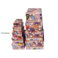 Darilna škatla kartonska gumbi in sukanci 17x11x6,5cm