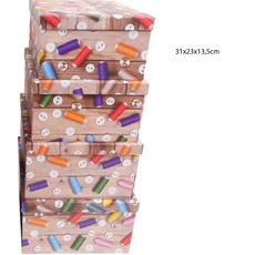 Darilna škatla kartonska gumbi in sukanci 31x23x13,5cm