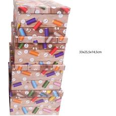 Darilna škatla kartonska gumbi in sukanci 33x25,5x14,5cm
