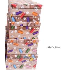 Darilna škatla kartonska gumbi in sukanci 35x27x15,5cm