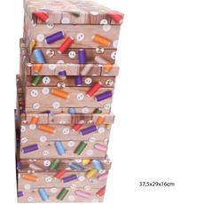 Darilna škatla kartonska gumbi in sukanci 37,5x29x16cm