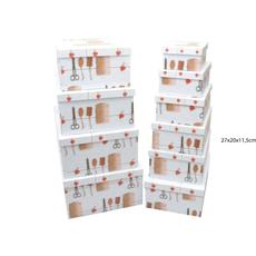 Darilna škatla kartonska škarje vrvica 27x20x11,5cm