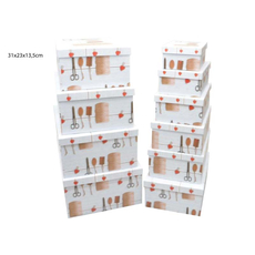 Darilna škatla kartonska škarje vrvica 31x23x13,5cm