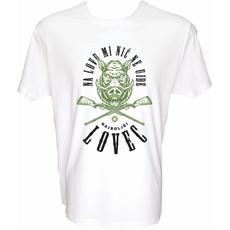 Majica-Na lovu mi nič ne uide M-bela