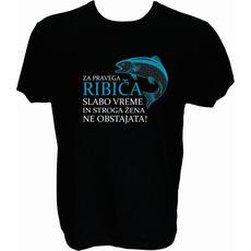 Majica-Za pravega ribiča M-črna