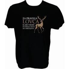 Majica-Za pravega lovca M-črna