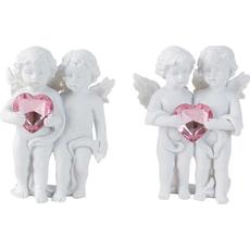 Angela stoječa z roza srcem, polymasa, 10 cm, sort
