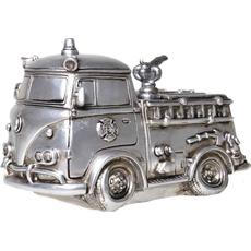Hranilnik gasilski avto srebrn, polymasa 11x18cm
