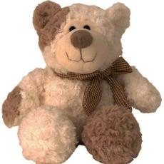 Medved sedeč s karirasto pentljo, 22cm
