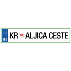 Registrska tablica - Kraljica ceste, 47x11cm