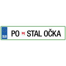 Registrska tablica - Postal očka, 47x11cm