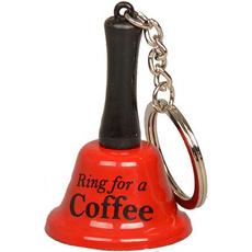 Zvonec in obesek za ključe pozvoni za COFFE 3,8x5,5cm