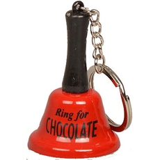 Zvonec in obesek za ključe pozvoni zaCHOCOLADE 3,8x5,5cm