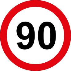 Prometni znak 90 let - 37cm, Arma