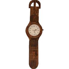 Ura stenska lesena v obliki ročne ure 19,5x76cm
