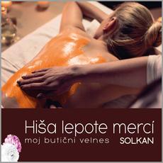 {[sl]:Sadna masaža celega telesa , Hiša lepote Merci, Solkan (Vrednostni bon, izvajalec storitev: POLONA VEGELJ S.P.