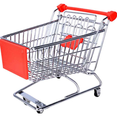 Voziček nakupovalni za darila 13x17,5x16cm sort