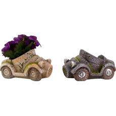 Cvetlični lonec avto, 17x8,5cm sort