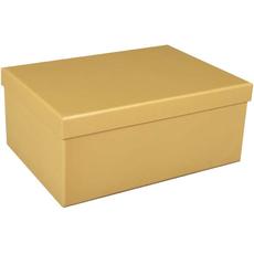 Darilna škatla kartonska zlata 25x18x10,5cm
