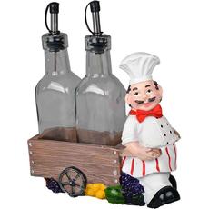 Stojalo za olje in kis kuhar z vozičkom 19x18x8cm sort