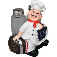 Stojalo za sol in poper kuhar z grozdjem in sodom 9x9x14cm