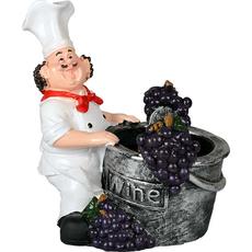 Držalo za steklenico kuhar ob čebru z grozdjem 15x15x20cm