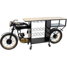 "{[sl]:Stojalo/bar na kolesih za 12 buteljk ""South Carolina"" motor kovina/les 220x56x1"