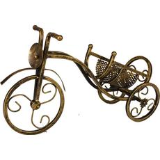 Stojalo za steklenico tricikl zlat 39,5cm