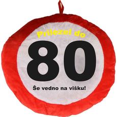 Vzglavnik dekorativen rdeč Prilezel do 80 - Še vedno na višku!, 100% poliester