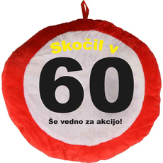 Vzglavnik dekorativen rdeč Skočil v 60 - Še vedno za akcijo!, 100% poliester