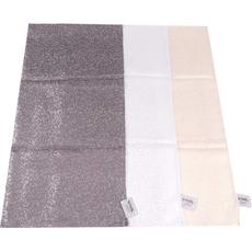 {[sl]:Namizni prt,zlat/srebrn/siv z  srebrnimi pikami 90% polyestre 10% srebrna preja 85x8