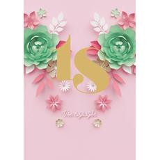 """{[sl]:Voščilo, čestitka za rojstni dan, 18 let, """"Vs"""