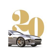 Voščilo, čestitka za rojstni dan, 20, srebrn avto