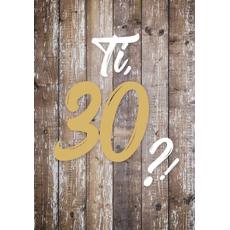 """{[sl]:Voščilo, čestitka za rojstni dan, 30, """"Pa tako dobro"""