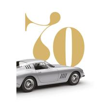 Voščilo, čestitka za rojstni dan, 70, srebrn avto