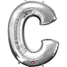 """Balon napihljiv, za helij, srebrn, črka """"C"""", 81cm"""