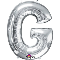 """Balon napihljiv, za helij, srebrn, črka """"G"""", 81cm"""