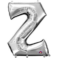 """Balon napihljiv, za helij, srebrn, črka """"Z"""", 83cm"""