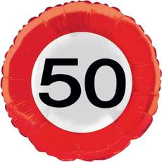 Balon napihljiv, za helij, prometni znak, št. 50, 43cm