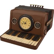 Harmonika, hranilnik z uro, kovina 24,5x18x12cm