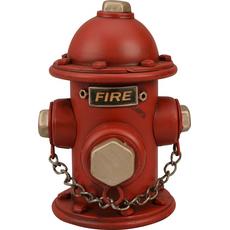 Hranilnik hidrant rdeč kovina dekoracija 17.5x12.5x12